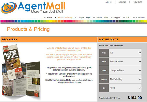 AgentMail Online Print Ordering - Get print Pricing